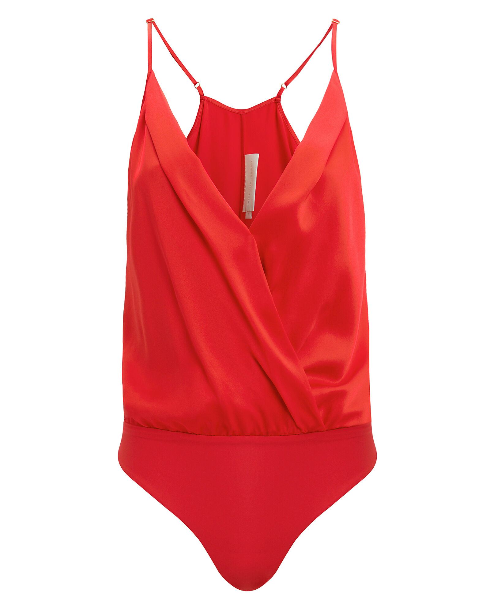 Silk Charmeuse Cami Bodysuit, RED, hi-res
