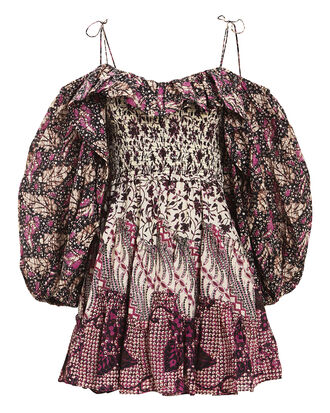 Jira Patchwork Mini Dress, FUCHSIA PATCHWORK, hi-res