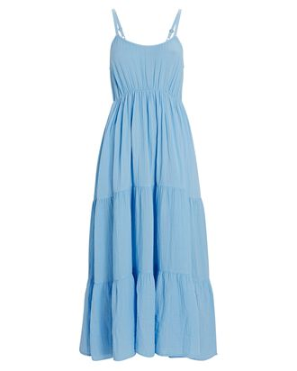 Ali Cotton Gauze Midi Dress, BLUE, hi-res