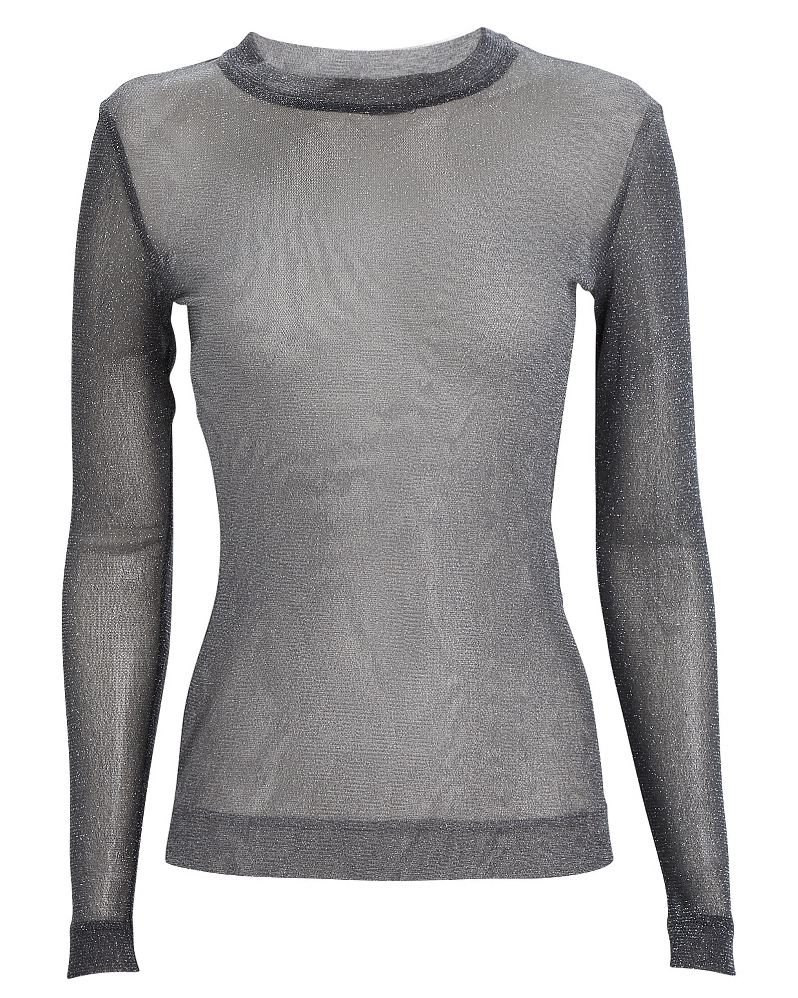 Bella Long Sleeve Mesh Top, BLACK, hi-res