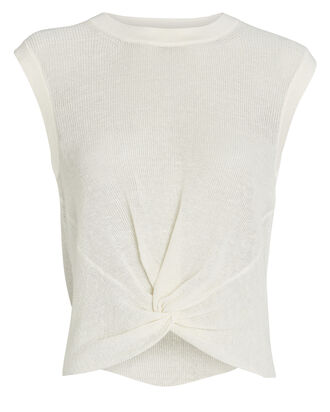 Kellen Sleeveless Twist Front Sweater, , hi-res