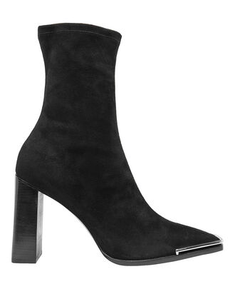 Mascha Suede Sock Booties, BLACK, hi-res