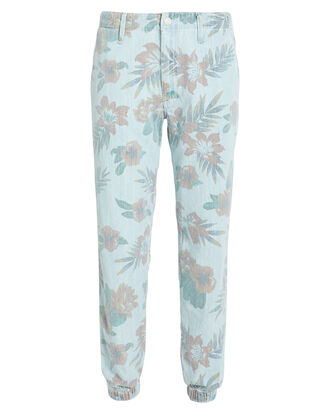 The No Zip Misfit Pants, BLUE/FLORAL, hi-res