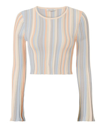 Juni Pastel Striped Crop Top, MULTI, hi-res