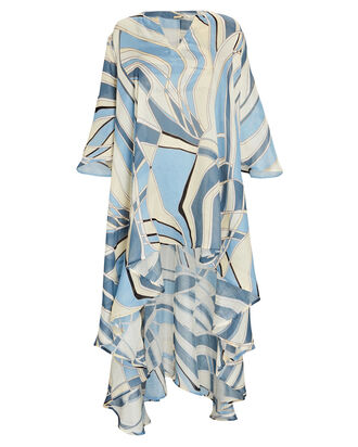 Farah Printed Cover-Up Dress, BLUE/CREAM, hi-res