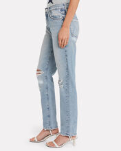 The Trickster Distressed Straight Jeans, DENIM, hi-res