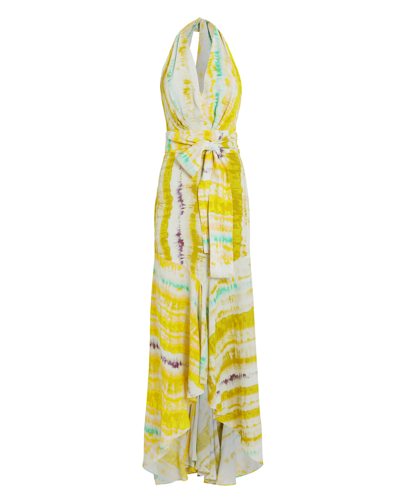 Ardell Halter Gown, YELLOW, hi-res