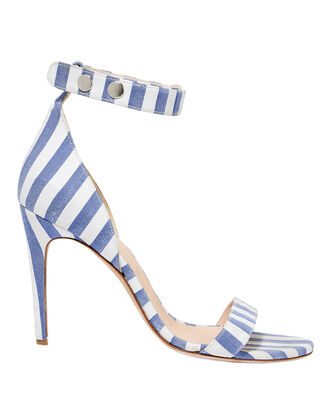 Blue Stripe Sandals, MULTI, hi-res