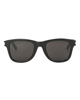 Flat Top Embellished Sunglasses, BLACK, hi-res