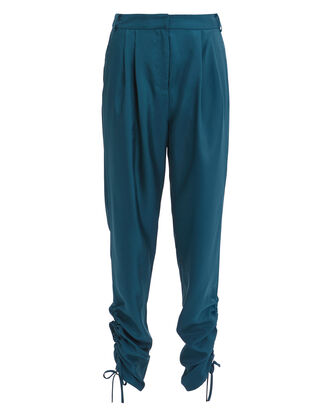 Shirred Pants, TEAL, hi-res