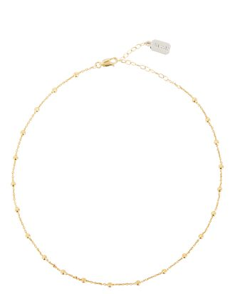 Lina Satellite Ball Chain Necklace, GOLD, hi-res