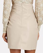 Zow Ruched Vegan Leather Mini Skirt, IVORY, hi-res