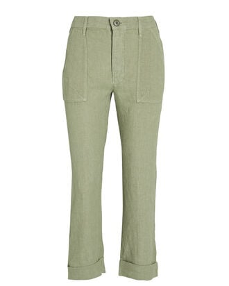 Le Beau Military Linen Pants, , hi-res