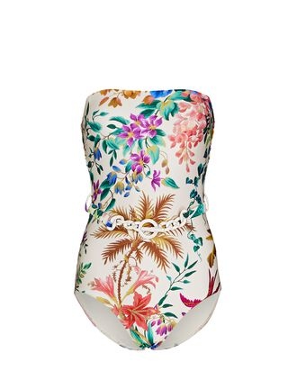 Tropicana Belted One-Piece Swimsuit, MULTI, hi-res