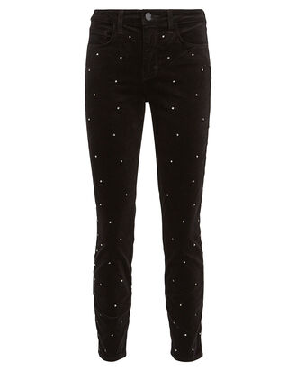 Margot Scattered Crystal Skinny Jeans, BLACK, hi-res