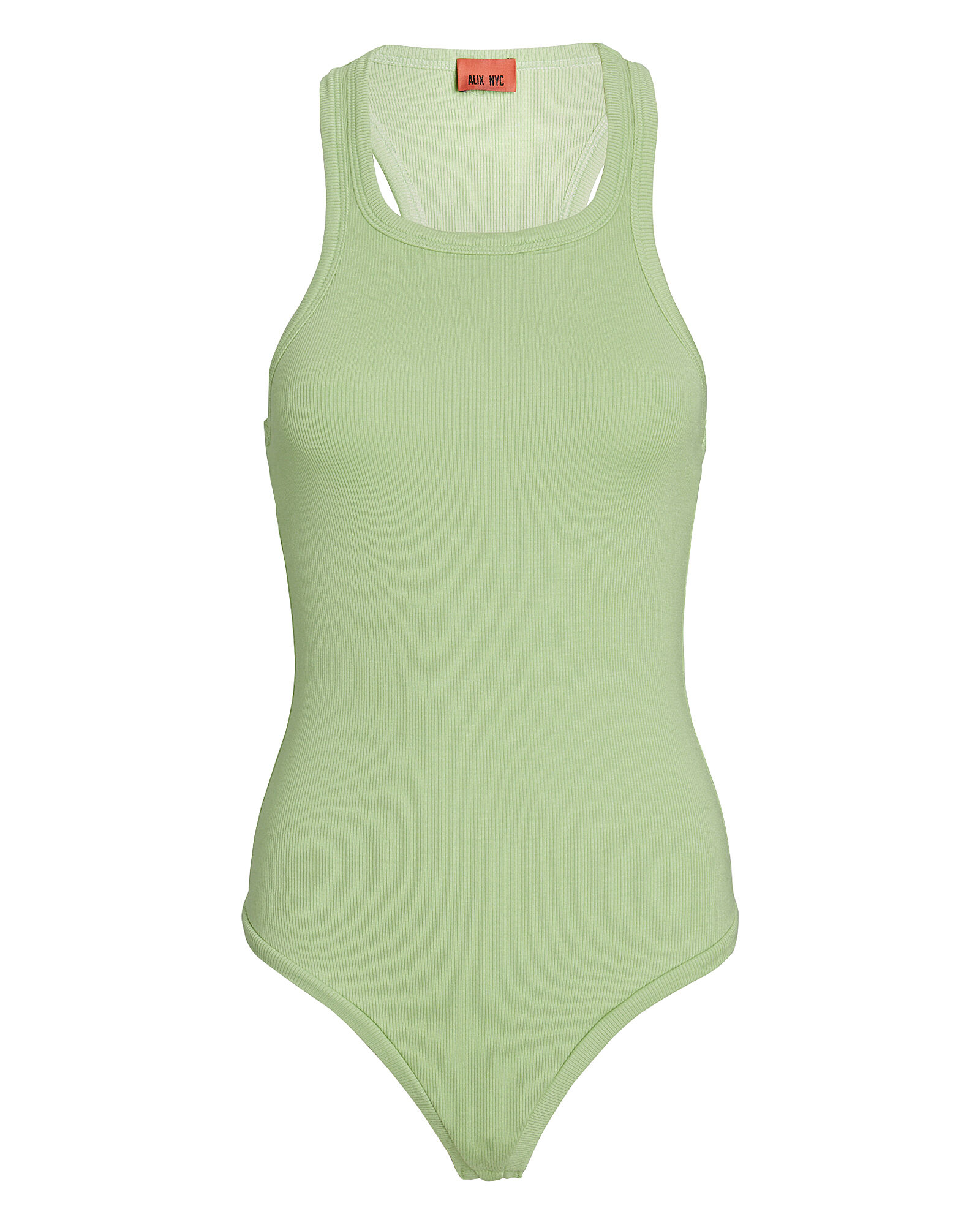 Austin High Neck Sleeveless Bodysuit, GREEN-LT, hi-res