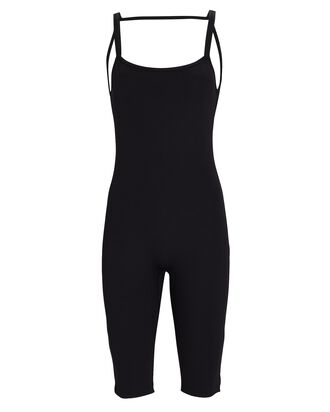 Morton Ribbed Open Back Bodysuit, BLACK, hi-res