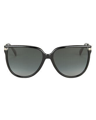 7131 Rounded Wayfarer Sunglasses, BLACK, hi-res
