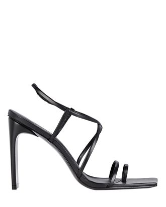 Sandra Strappy Leather Sandals, BLACK, hi-res