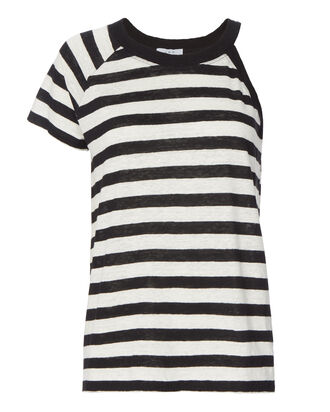 Jane Open Shoulder Stripe Top, PATTERN, hi-res