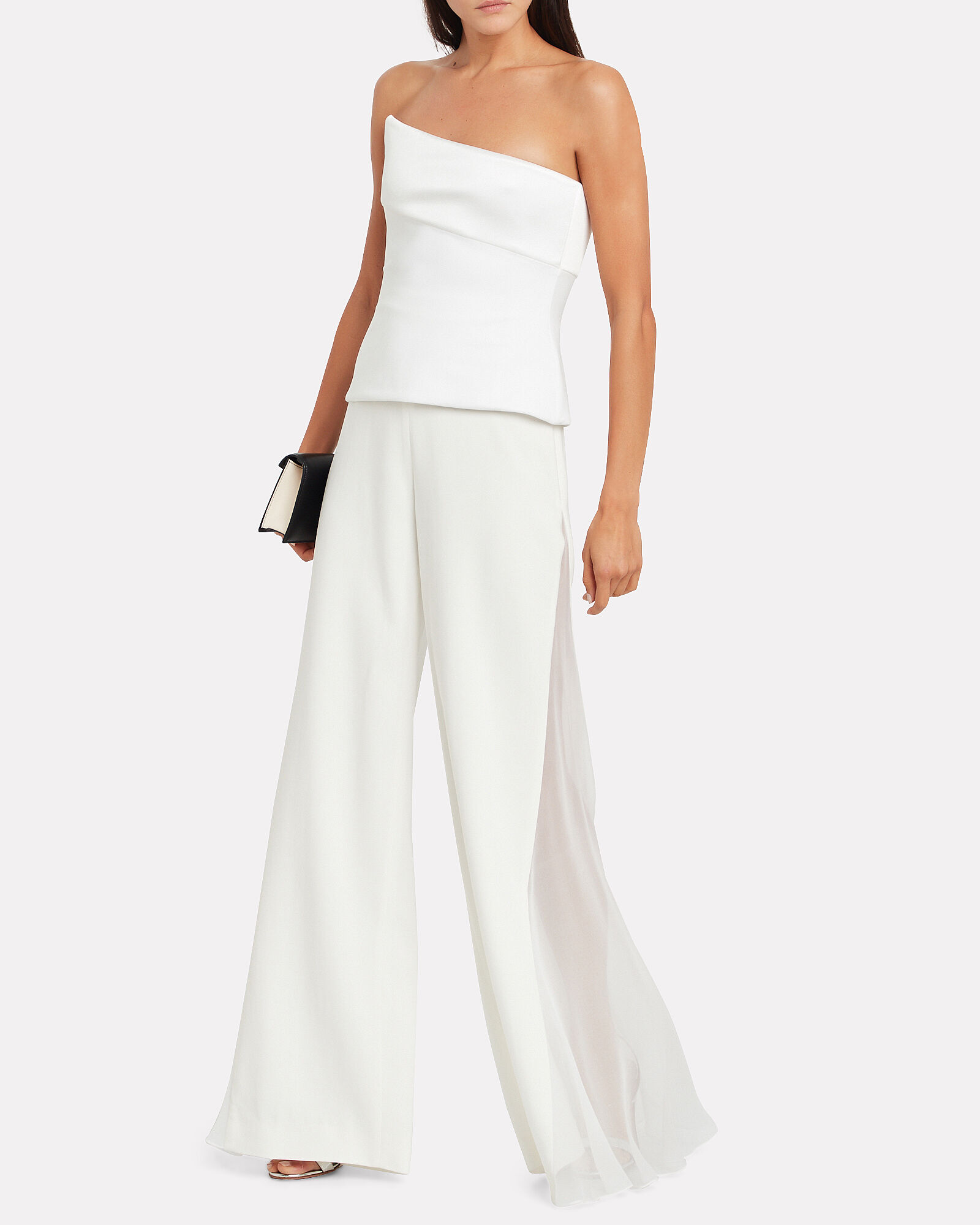 Liquid Crepe Wide Leg Pants, WHITE, hi-res