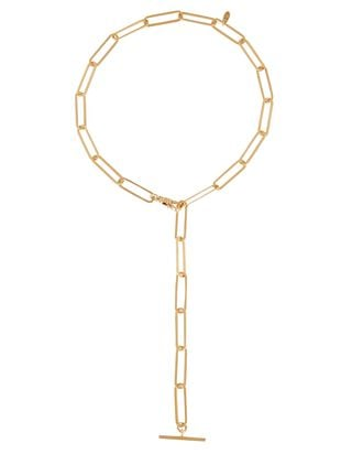 Nora Chain Link Lariat Necklace, GOLD, hi-res