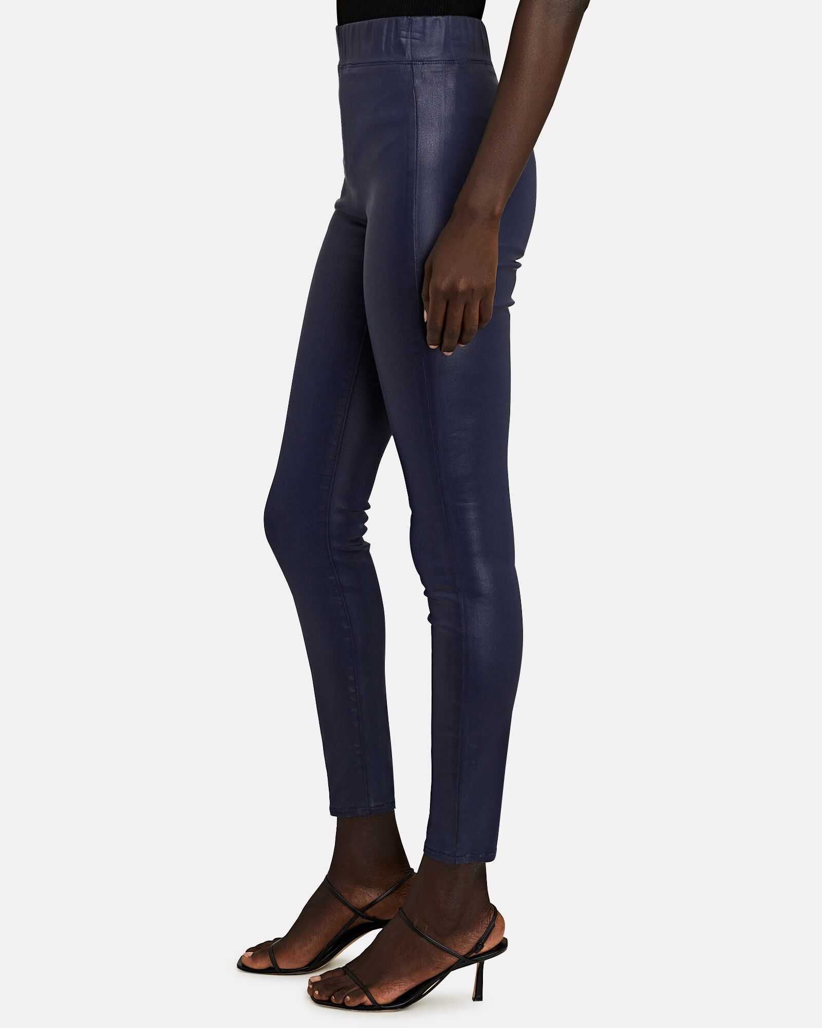 Rochelle Coated High-Rise Leggings, BLUE-DRK, hi-res