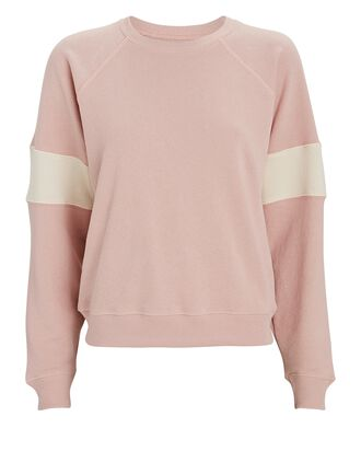 The Shrunken Track Cotton Sweatshirt, PINK, hi-res