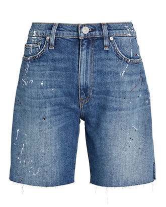 Hana Denim Biker Shorts, MEDIUM WASH DENIM, hi-res