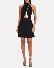 Crepe Halter Mini Dress, BLACK, hi-res