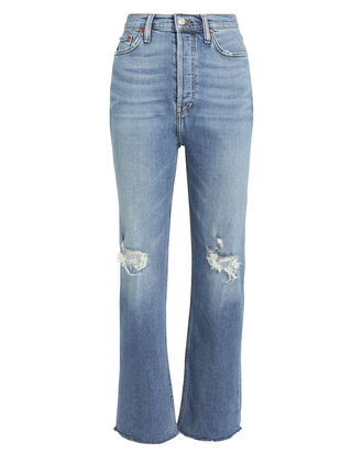 Ultra High Rise Stove Pipe Jeans, FADED BLUE DENIM, hi-res