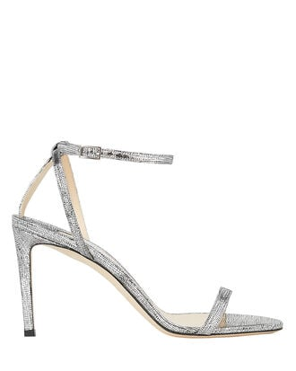 Minny 85 Leather Sandals, SILVER/METALLIC, hi-res