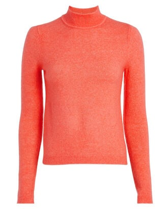 Evie Mock Neck Sweater, CORAL, hi-res