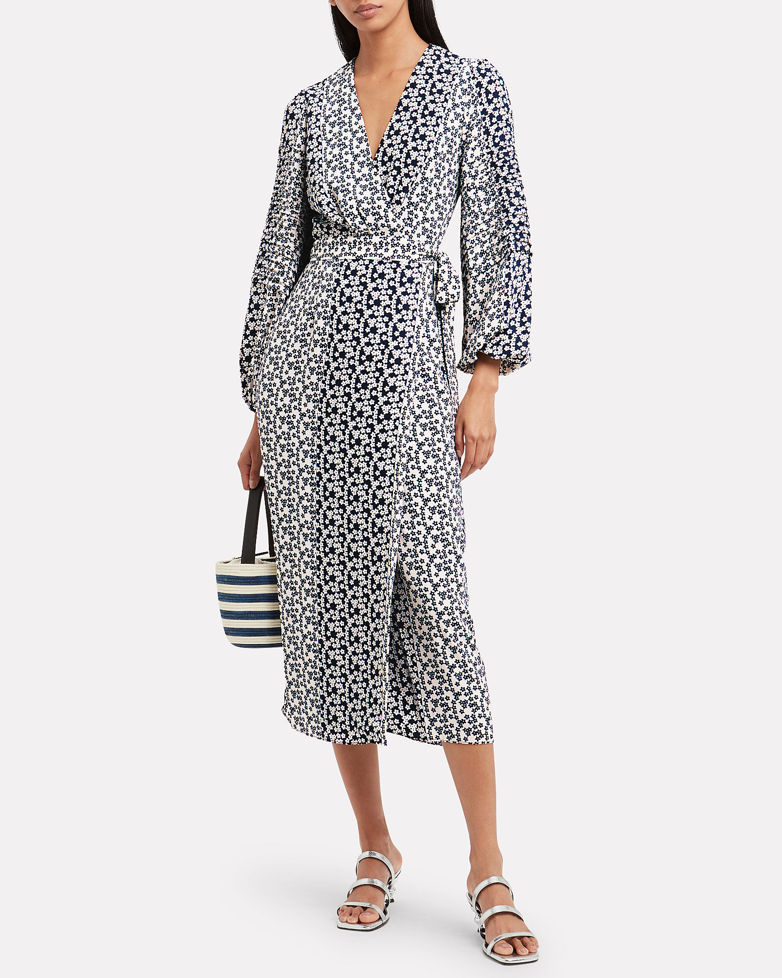 Remember Me Floral Wrap Dress, MULTI, hi-res