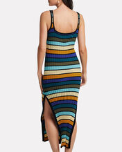 Striped Rib Knit Maxi Dress, BLUE STRIPE, hi-res