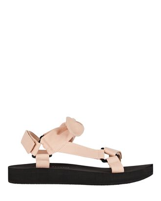 Maisie Canvas Sandals, PALE PINK, hi-res