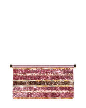 Carry Secrets Sequined Clutch, PINK, hi-res