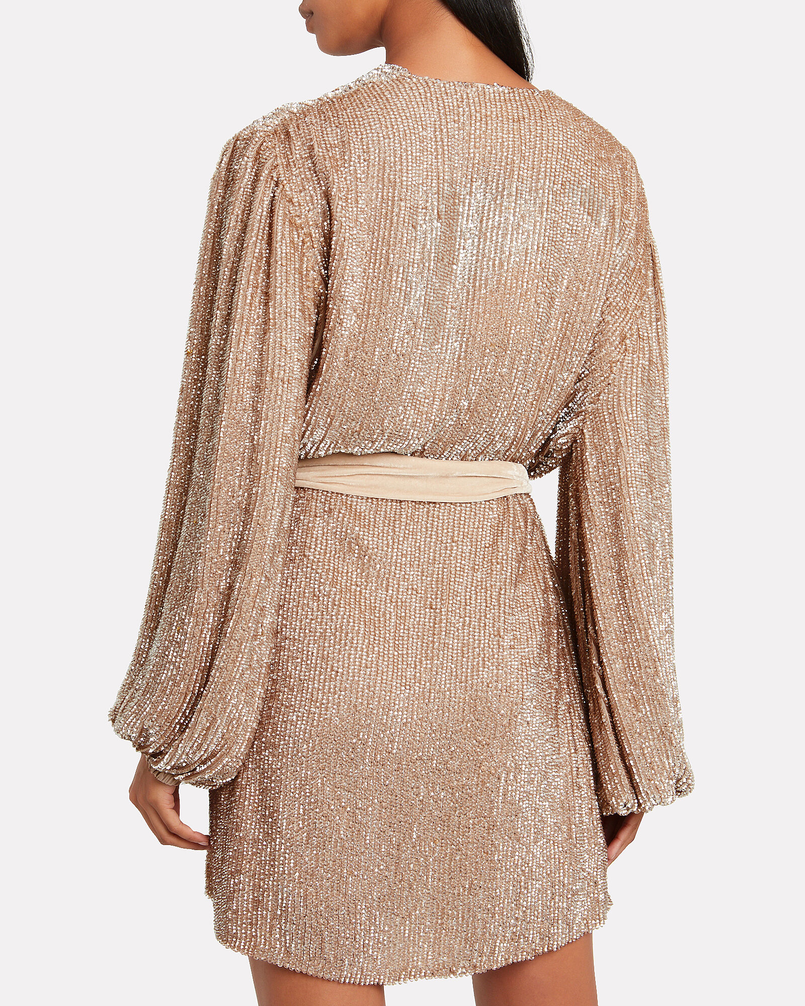 Gabrielle Sequin Mini Dress, TAUPE, hi-res