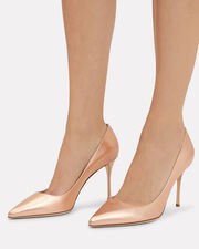 Godiva Leather Pumps, GOLD, hi-res