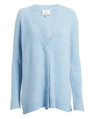 Lofty V-Neck Cardigan, BLUE, hi-res