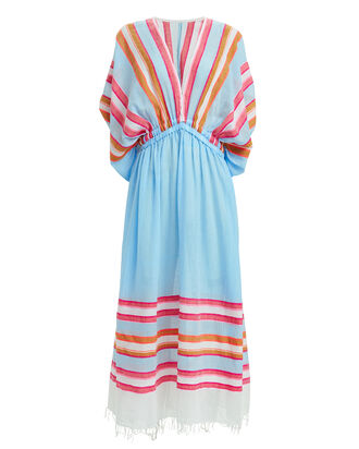 Eskedar Striped Coverup Dress, BLUE/RED, hi-res