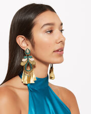 Hazelnut Curubas Earrings, GOLD/TURQUOISE, hi-res