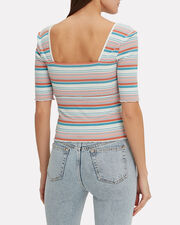 Darcy Striped Top, WHITE/STRIPES, hi-res