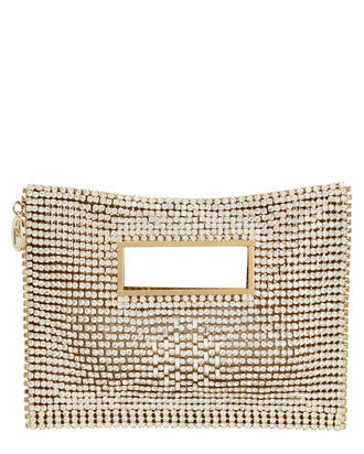 Iside Crystal Clutch, WHITE, hi-res