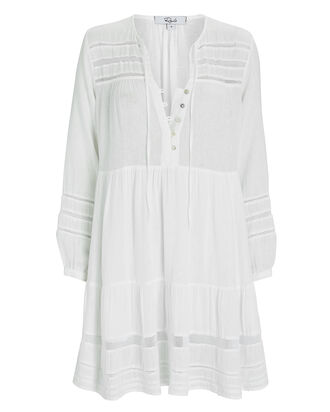 Phoebe Long Sleeve Mini Dress, WHITE, hi-res