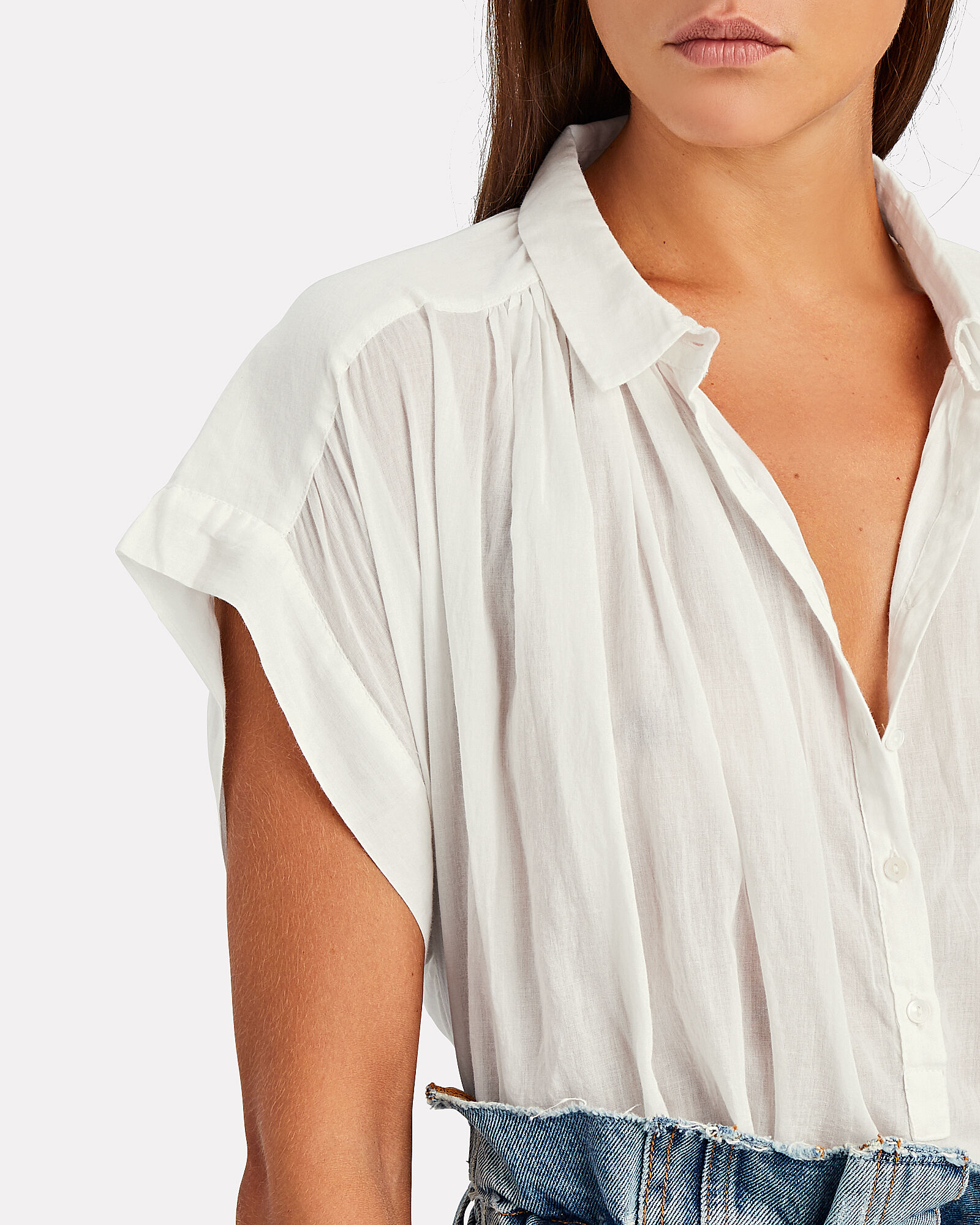 Normandy Cotton Voile Blouse, , hi-res