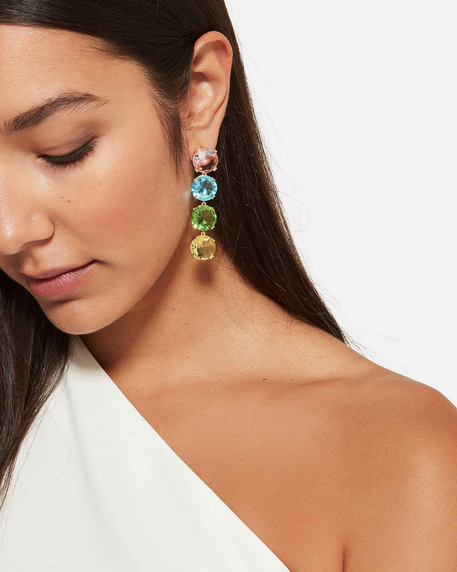 Rainbow Crystal Earrings, RAINBOW CRYSTALS, hi-res