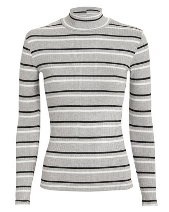 70s Turtleneck, BLACK/WHITE/GREY STRIPE, hi-res