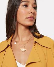 Love Potion Leaf And Pearl Necklace, GOLD, hi-res