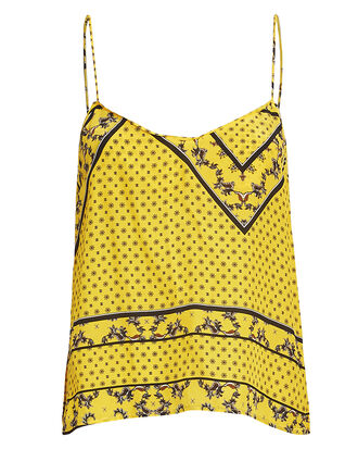 Hemlock Mixed Print Tank, YELLOW, hi-res
